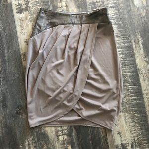MACY'S Super cute skirt with faux leather top